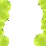 Manzana verde fresca aislada en blanco Fotografía de archivo