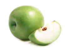 Manzana verde madura. Fotografía de archivo libre de regalías