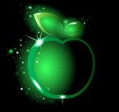 Manzana verde que brilla intensamente Foto de archivo libre de regalías