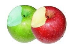 Manzana verde y roja Fotografía de archivo libre de regalías