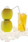 manzana y jugo Imagen de archivo