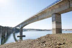 Manzanal Esla bridge. Zamora. Manzanal Esla concrete bridge. Zamora, Ricobayo Lake Stock Images