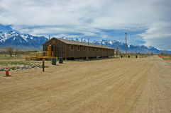 Manzanar barracks Stock Images