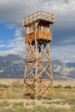 Manzanar guard tower Royalty Free Stock Photos