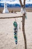 Manzanar Memorail et mille grues Photos libres de droits