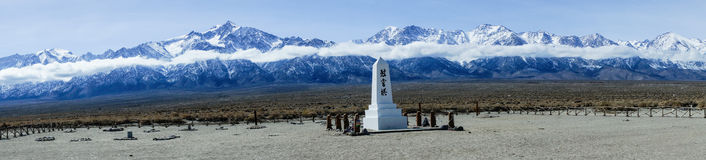 Manzanar Memorial Panorama Stock Image