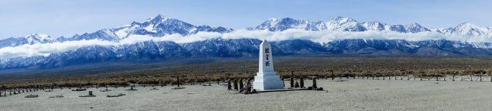 Manzanar minnesmärkepanorama Fotografering för Bildbyråer
