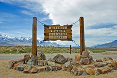 Manzanar sign Royalty Free Stock Photos