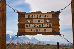 Manzanar War Relocation Center sign Royalty Free Stock Photo