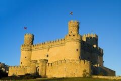 Manzanares castillo De El real Zdjęcia Royalty Free