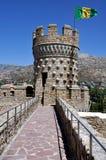 Manzanares el实际城堡(垂直) 库存照片
