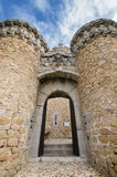 Manzanares EL πραγματικό κάστρο μια νεφελώδη ημέρα, Μαδρίτη, Ισπανία Στοκ φωτογραφία με δικαίωμα ελεύθερης χρήσης