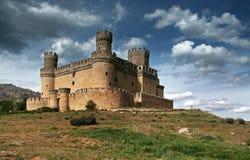 Manzanares el Real Castle. (Spain), build in the 15th. century stock photo