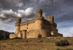 Manzanares el Real Castle. (Spain), build in the 15th. century royalty free stock image