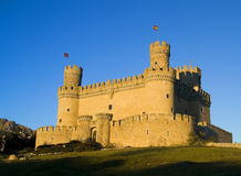Manzanares El Real Castle Stock Photography