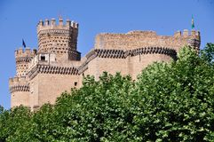 Manzanares el Real Castle Royalty Free Stock Images