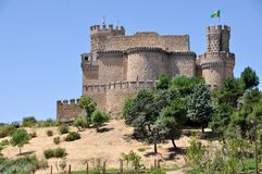 Manzanares el Real Castle Royalty Free Stock Image