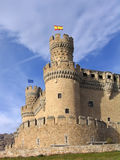 Manzanares el Real Castle. (Spain), build in the 15th. century Stock Photos