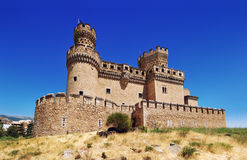 Manzanares el Real Castle Royalty Free Stock Photo