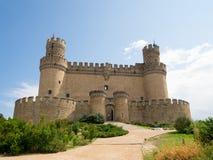 Manzanares el Real Castle. (Spain), build in the 15th. century Royalty Free Stock Photography