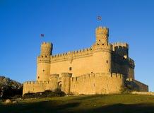 Manzanares-EL-reales Schloss Stockfotografie