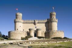 Manzanares-EL-reales Schloss frt Stockbild