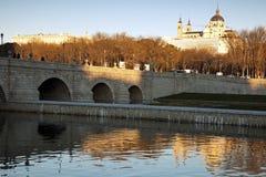 Manzanares River in Madrid Stock Photo