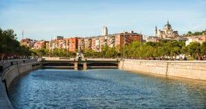 Manzanares River in Madrid Stock Image