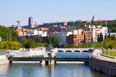 Manzanares river in Madrid. Spain Stock Photo