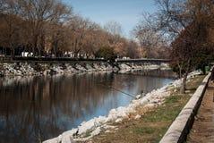 Manzanares river Royalty Free Stock Images