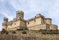Manzanares slott, Spanien Arkivbilder