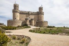 Manzanares slott, Spanien Arkivbild
