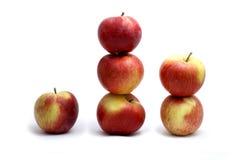 Manzanas aisladas en blanco Foto de archivo