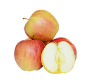 Manzanas aisladas en blanco Fotos de archivo