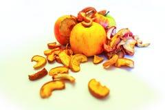 Manzanas aisladas en blanco Foto de archivo libre de regalías
