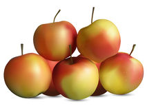 Manzanas amarillas rojas Foto de archivo libre de regalías