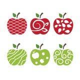 manzanas Arte del vector Fotografía de archivo