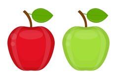 Manzanas brillantes aisladas en blanco Fotografía de archivo libre de regalías