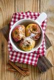 Manzanas cocidas Imagenes de archivo