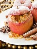 Manzanas cocidas al horno Imagen de archivo libre de regalías