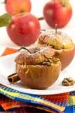 Manzanas cocidas al horno Foto de archivo libre de regalías