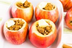 Manzanas cocidas al horno Fotografía de archivo libre de regalías