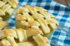 Manzanas cocidas con cinnamone, la miel y la vainilla Imágenes de archivo libres de regalías