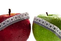 Manzanas como concepto de dieta sana imagen de archivo libre de regalías