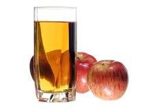 Manzanas con y jugo fotografía de archivo libre de regalías