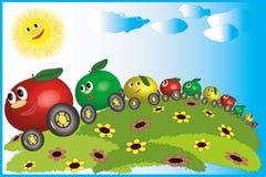Manzanas - cuidados Foto de archivo