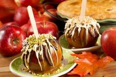 Manzanas de caramelo Foto de archivo libre de regalías