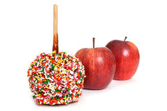 Manzanas de caramelo Foto de archivo