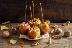 Manzanas de caramelo Fotografía de archivo libre de regalías
