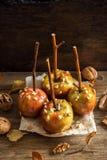 Manzanas de caramelo Fotografía de archivo